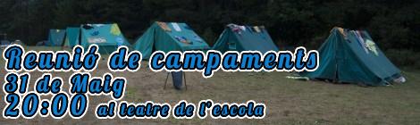 31 de Maig: Reunió informativa de Campamentsd'estiu